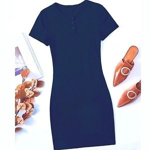 🏖2/$30 Button Fitted Bodycon Dress Clearance